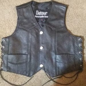 Detour Motorcycle Gear Toddler Leather Riding Vest